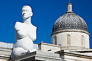 Alison Lapper Pregnant sculpture by Marc Quinn in Trafalgar Square, London, United Kingdom