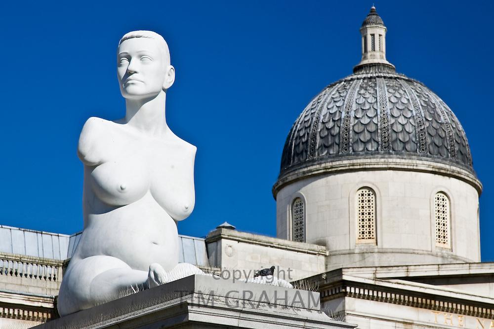 Alison Lapper Pregnant sculpture by Marc Quinn in Trafalgar Square, London, United Kingdom