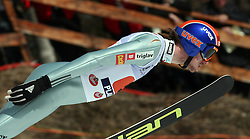 Primoz Pikl during first series of team event of FIS Ski jumping World Cup finals in Planica, Slovenia.  Team event of FIS Ski jumping World cup were held in Planica, Slovenia, on K215 ski flying hill on March 15, 2008. (Photo by Vid Ponikvar / Sportal Images)./ Sportida)