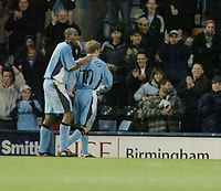 Fotball<br /> England 2004/2005<br /> 18.12.2004<br /> Foto: SBI/Digitalsport<br /> NORWAY ONLY<br /> <br /> Coventry City v Watford <br /> Coca Cola Championship. 18/12/2004.<br /> <br /> Dele Adebola celebrates with Gary McSheffrey after he scored for Coventry