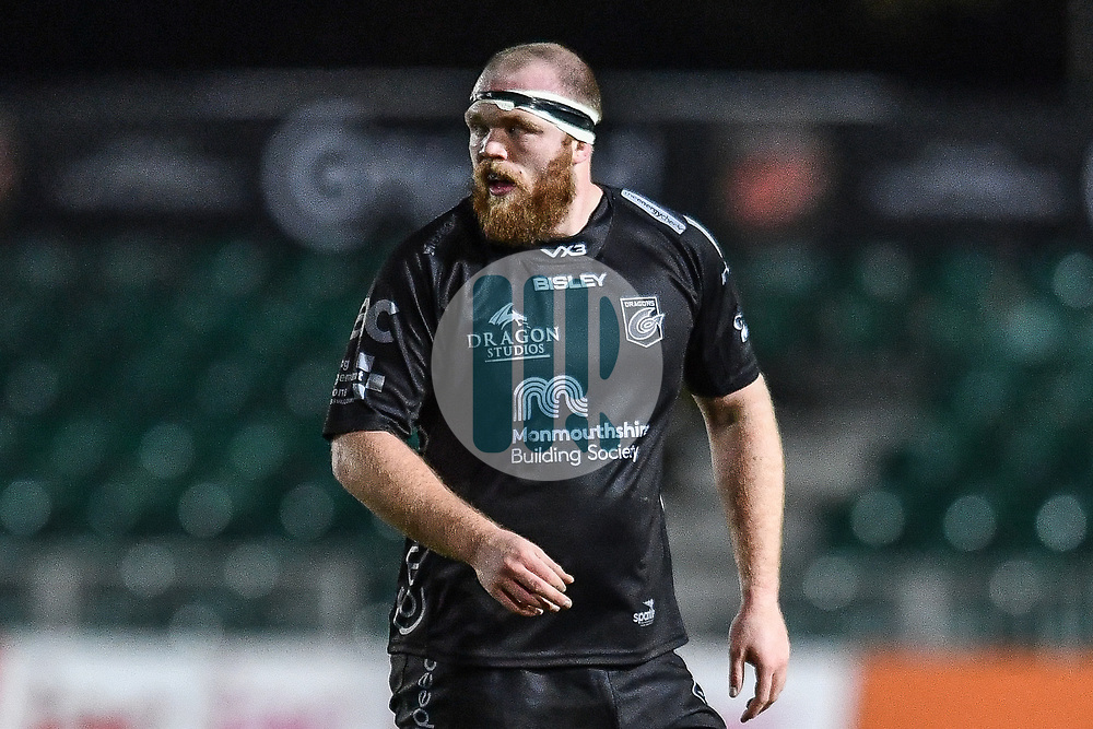 Joseph Davies of Dragons<br /> <br /> Photographer Craig Thomas/Replay Images<br /> <br /> Guinness PRO14 Round 7 - Dragons v Zebre - Saturday 30th November 2019 - Rodney Parade - Newport<br /> <br /> World Copyright © Replay Images . All rights reserved. info@replayimages.co.uk - http://replayimages.co.uk