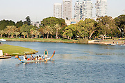Israel, Tel Aviv, Yarkon River and park.