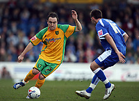 Photo: Rich Eaton.<br /> <br /> Cardiff City v Norwich City. Coca Cola Championship. 10/03/2007. Lee Croft of Norwich left and Joe Ledley of Cardiff