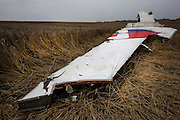 Malaysian Airlines MH17 shot down near the village of Grabavo crash site in Donetsk Separatist zone, Eastern Ukraine Photo Bohdan Warchomij