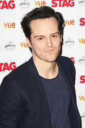 © Licensed to London News Pictures. 13/03/2014, UK. Andrew Scott, The Stag - Gala Screening, Vue Cinema Leicester Square, London UK, 13 March 2014. Photo credit : Richard Goldschmidt/Piqtured/LNP
