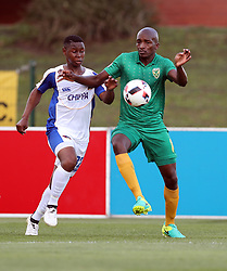 Siyabonga Ngubane of Chippa United looks to tackle Lehlohonolo Nonyane of Golden Arrows Lehlohonolo Nonyane of Golden Arrows during the 2016 Premier Soccer League match between Golden Arrows and Chippa United held at the Princess Magogo Stadium in Durban, South Africa on the 15th October 2016<br /> <br /> Photo by:   Steve Haag / Real Time Images