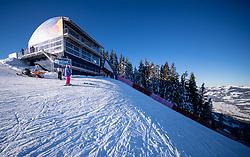 22.01.2019, Streif, Kitzbühel, AUT, FIS Weltcup Ski Alpin, Abfahrt, Herren, 1. Training, im Bild Starthaus // Start during the 1st Training of mens downhill of FIS Ski Alpine Worldcup at the Streif in Kitzbühel, Austria on 2019/01/22. EXPA Pictures © 2019, PhotoCredit: EXPA/ Johann Groder