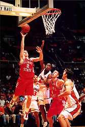 December 18, 2001: Illinois State Redbirds basketball player Gregg Alexander...This image was scanned from a print.  Image quality may vary.  Dust and other unwanted artifacts may exist.