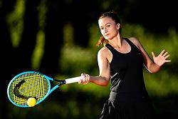 Dalila Jakupovic, professional tennis player at promo photoshoot, on June 12, 2020 in Tennis Sobec, Bled, Slovenia. Photo by Matic Klansek Velej / Sportida