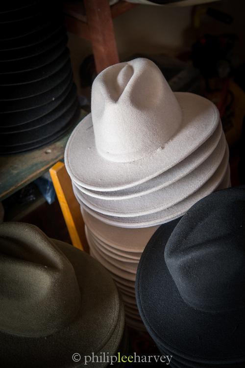 traditional felt hats for sale, Otavalo, Ecuador, South America
