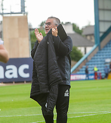 Ayr United's manager Ian McCall at the end. Dundee 0 v 3 Ayr United, Scottish League Cup Second Round, played 18/8/2018 at the Kilmac Stadium at Dens Park, Scotland.
