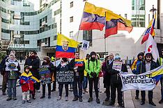 2019-02-02 Pro-Maduro protest outside BBC