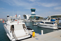 Yas Marina on Yas Island in Abu Dhabi United Arab Emirates