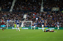 Marko Arnautovic of West Ham United lies injured as the match continues  - Mandatory by-line: Paul Roberts/JMP - 16/09/2017 - FOOTBALL - The Hawthorns - West Bromwich, England - West Bromwich Albion v West Ham United - Premier League