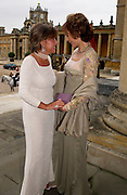 Lady Powell and Lady Victoria Getty, Ball at Blenheim Palace in aid of the Red Cross, Woodstock, 26 June 2004. SUPPLIED FOR ONE-TIME USE ONLY-DO NOT ARCHIVE. © Copyright Photograph by Dafydd Jones 66 Stockwell Park Rd. London SW9 0DA Tel 020 7733 0108 www.dafjones.com