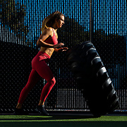 Paulina Piotrowska poses for a fitness shoot on Friday, Jan. 24, 2020 at Gold Gym in Venice. Calif.