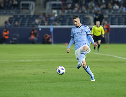 October 31, 2018 - New York, New York, United States - Ben Sweat (2) of NYCFC controls ball during knockout round game between NYCFC & Philadelphia Union at Yankees stadium NYCFC won 3 - 1  (Credit Image: © Lev Radin/Pacific Press via ZUMA Wire)
