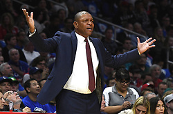 October 21, 2017 - Los Angeles, California, U.S. - Los Angeles Clippers head coach Doc Rivers in the first quarter during an NBA basketball game against the Phoenix Suns at the Staples Center on Saturday, Oct 21, 2017 in Los Angeles. .(Photo by Keith Birmingham, Pasadena Star-News/SCNG) (Credit Image: © San Gabriel Valley Tribune via ZUMA Wire)
