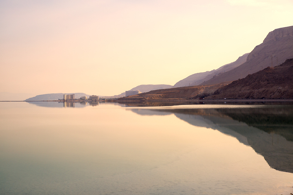 Dead sea landscape near Ein Bokek, Israel