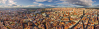Panoramic aerial view of Madrid, Spain