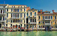 Venetian Gothic Palaces on the Grand Canal Venice .<br /> <br /> Visit our ITALY HISTORIC PLACES PHOTO COLLECTION for more   photos of Italy to download or buy as prints https://funkystock.photoshelter.com/gallery-collection/2b-Pictures-Images-of-Italy-Photos-of-Italian-Historic-Landmark-Sites/C0000qxA2zGFjd_k