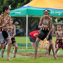 BRISBANE, AUSTRALIA - MARCH 19: Indigenous dancers perform before the Round 3 QRL Intrust Super Cup match between Wynnum Manly and Tweed Heads Seagulls at Ron Stark Oval on March 18, 2017 in Brisbane, Australia. (Photo by Patrick Kearney/Wynnum Manly Seagulls)
