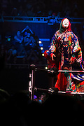 Asuka prepares to fight Bayley during NXT Takeover: Dallas on April 1, 2016 in Dallas, Texas.