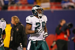 Philadelphia Eagles running back LeSean McCoy #29 enters the field before the NFL game between the Philadelphia Eagles and the New York Giants on December 13th 2009. The Eagles won 45-38 at Giants Stadium in East Rutherford, New Jersey. (Photo By Brian Garfinkel)