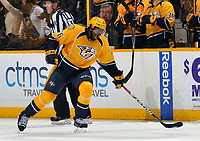 NASHVILLE, TN - DECEMBER 06:  P.K.Subban #76 of the Nashville Predators reacts after scoring a goal against of the Colorado Avalanche during the second period at Bridgestone Arena on December 6, 2016 in Nashville, Tennessee.  (Photo by Frederick Breedon/Getty Images)