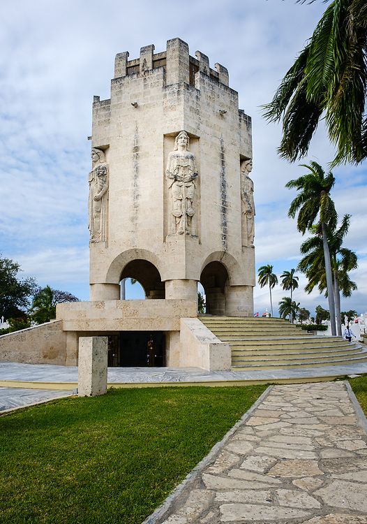 SANTIAGO DE CUBA, CUBA - CIRCA JANUARY 2020: Jose Marti Mausoleum at the Santa Ifigenia Cemetery in Santiago de Cuba. This is the resting place of a few notable Cubans, including Jose Marti and Fidel Castro among others.
