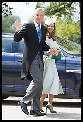 May 20, 2017 - Englefield, United Kingdom - Image licensed to i-Images Picture Agency. 20/05/2017. Englefield , United Kingdom. Pippa's new in-laws, David and Jane Matthews arriving at the wedding of Pippa Middleton and James Matthews at St.Mark's Church in Englefield, Berkshire, United Kingdom. Picture by Stephen Lock / i-Images (Credit Image: © Stephen Lock/i-Images via ZUMA Press)