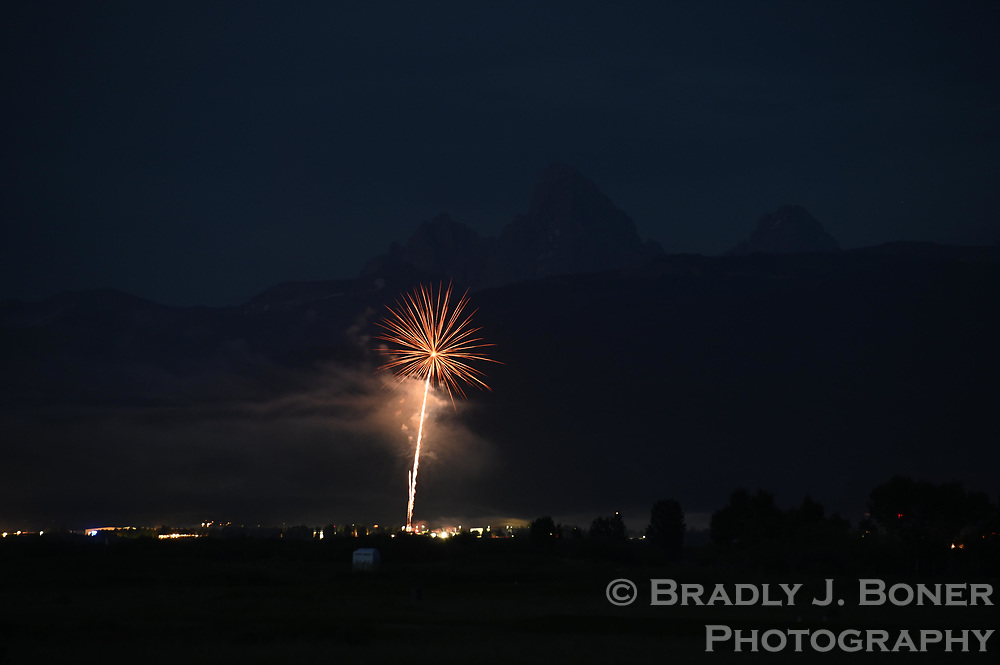 Fourth of July fireworks in Driggs, Idaho