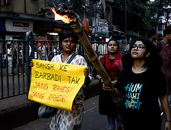 April 16, 2018 - Kolkata, West Bengal, India - Moments during the march. (Credit Image: © Debarchan Chatterjee/Pacific Press via ZUMA Wire)