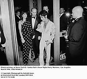 Prince arriving  at Steve Tisch &  Vanity Fair's Oscar Night Party,<br />Mortons,  Los Angeles. March 1994.  Film 94568/25<br /> <br />© Copyright Photograph by Dafydd Jones<br />66 Stockwell Park Rd. London SW9 0DA<br />Tel 0171 733 0108.