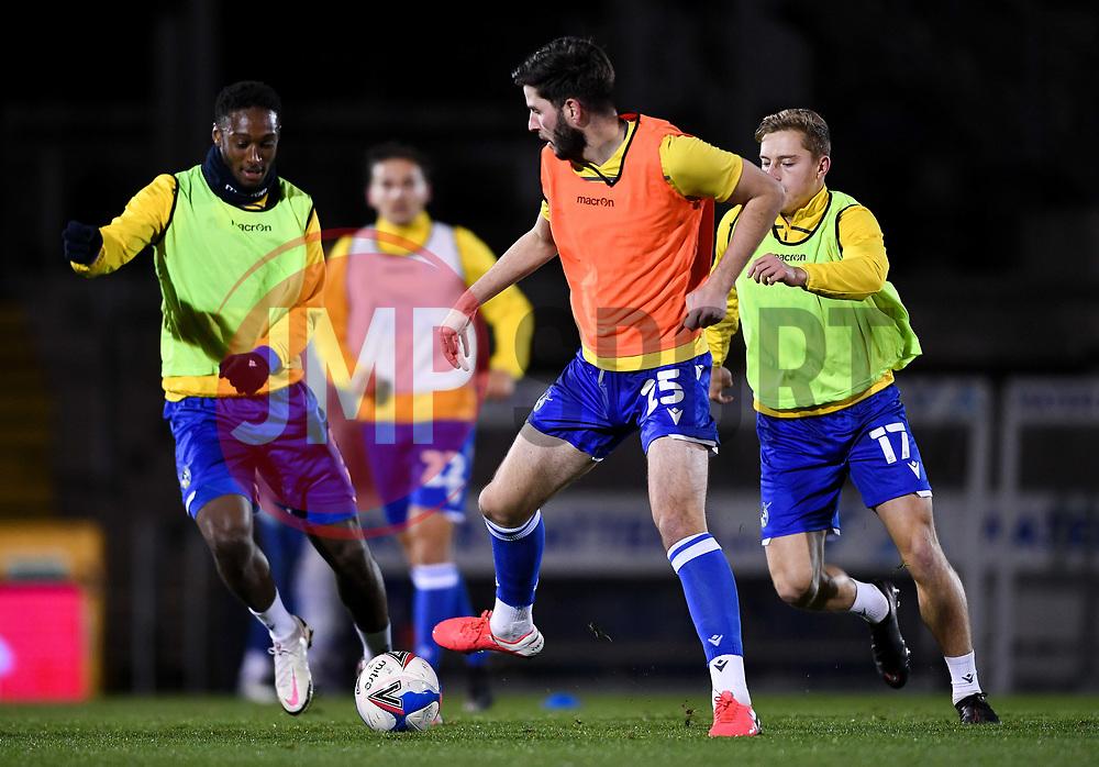 Bristol Rovers warm up - Mandatory by-line: Ryan Hiscott/JMP - 18/11/2020 - FOOTBALL - Memorial Stadium - Bristol, England - Bristol Rovers v Chelsea U21 - Papa John's Trophy