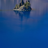 """""""Phantom Ship"""" rises from the waters of Crater Lake at Crater Lake National Park in Oregon."""