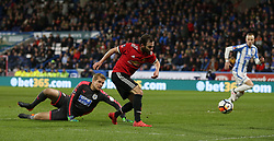 Manchester United's Juan Mata scores his side's second goal of the game but the goal is disallowed after review by VAR
