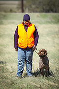 SHOT 5/9/20 10:43:28 AM - Various pointing breeds compete in the Vizsla Club of Colorado Licensed Hunt Test Premium at the Rocky Mountain Sporting Dog Club Grounds in Keenesburg, Co. (Photo by Marc Piscotty / © 2020)