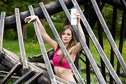 Tjasa Bahovec posing during official photo shoot of Miss Sporta Slovenije 2016, on April 23, 2016 in Tivoli, Ljubljana, Slovenia. Photo by Vid Ponikvar / Sportida