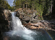 Silver Falls on the Ohanapecosh River. The river originates near Ohanapecosh Glacier on the southeast side of Mount Rainier. (Steve Ringman / The Seattle Times)