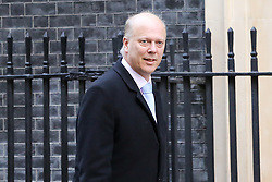 © Licensed to London News Pictures. 19/02/2019. London, UK. Chris Grayling - Secretary of State for Transport arrives in Downing Street for the weekly Cabinet meeting. Photo credit: Dinendra Haria/LNP