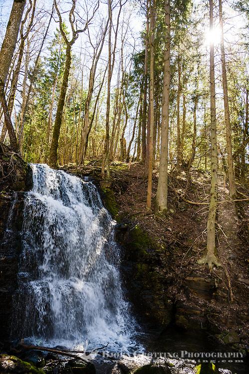 Sweden, Skövde. Silverfallen waterfalls.