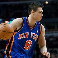 17 December 2009: New York Knicks forward Danilo Gallinari dribbles during the Chicago Bulls 98-89 victory over the New York Knicks at the United Center, in Chicago, Illinois, USA.