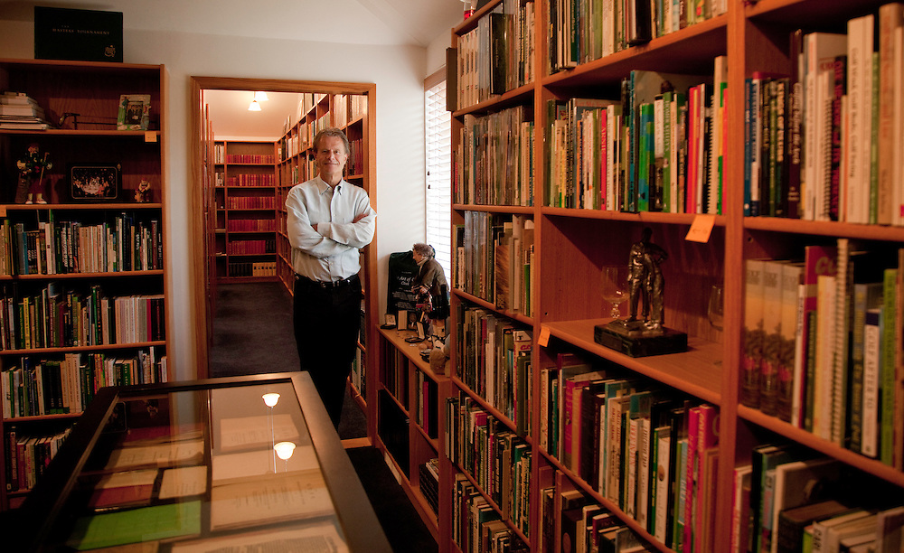 Alastair Johnston, CEO of IMG, photographed in his library at home in Pepper Pike, Ohio on Tuesday, April 20, 2010. Photograph © 2010 Darren Carroll
