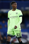 Tosin Adarabioyo of Manchester City looks on. The Emirates FA Cup, 5th round match, Chelsea v Manchester city at Stamford Bridge in London on Sunday 21st Feb 2016.<br /> pic by John Patrick Fletcher, Andrew Orchard sports photography.