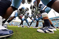 Tennessee Titans Defense in Huddle