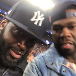 """50 Cent releases a photo on Instagram with the following caption: """"It\u2019s game time, let\u2019s go \ud83e\udd37\ud83c\udffd\u200d\u2642\ufe0fwhy they so far back EL\ud83e\udd28get the strap #lecheminduroi"""". Photo Credit: Instagram *** No USA Distribution *** For Editorial Use Only *** Not to be Published in Books or Photo Books ***  Please note: Fees charged by the agency are for the agency's services only, and do not, nor are they intended to, convey to the user any ownership of Copyright or License in the material. The agency does not claim any ownership including but not limited to Copyright or License in the attached material. By publishing this material you expressly agree to indemnify and to hold the agency and its directors, shareholders and employees harmless from any loss, claims, damages, demands, expenses (including legal fees), or any causes of action or allegation against the agency arising out of or connected in any way with publication of the material."""