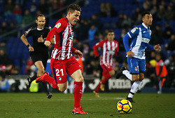 December 22, 2017 - Barcelona, Spain - Kevin Gameiro during the La Liga match between RCD Espanyol and Atletico de Madrid, in Barcelona, on December 22, 2017. Photo: Joan Valls/Urbanandsport/Nurphoto  (Credit Image: © Joan Valls/NurPhoto via ZUMA Press)