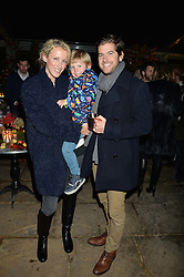 The Ivy Chelsea Garden's Guy Fawkes Party & Launch of The Winter Garden was held on 5th November 2016.<br /> Picture shows:-JACK & KATE FREUD with their son JAGO FREUD.