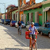 Central America, Cuba, Trinidad. Bicycles of Trinidad, Cuba.